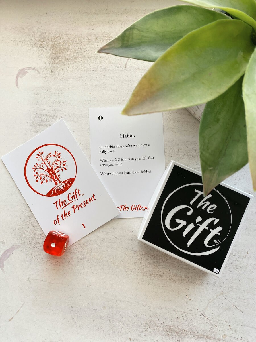 The Gift of the Present - Card with Plant