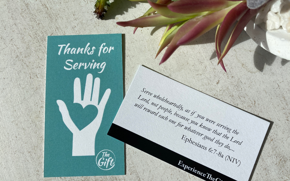 Thanks for Serving card